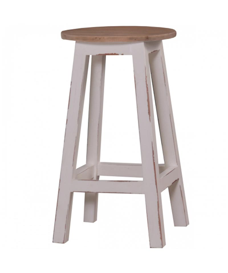 Bramble Provincial Stool – Tall White Harvest