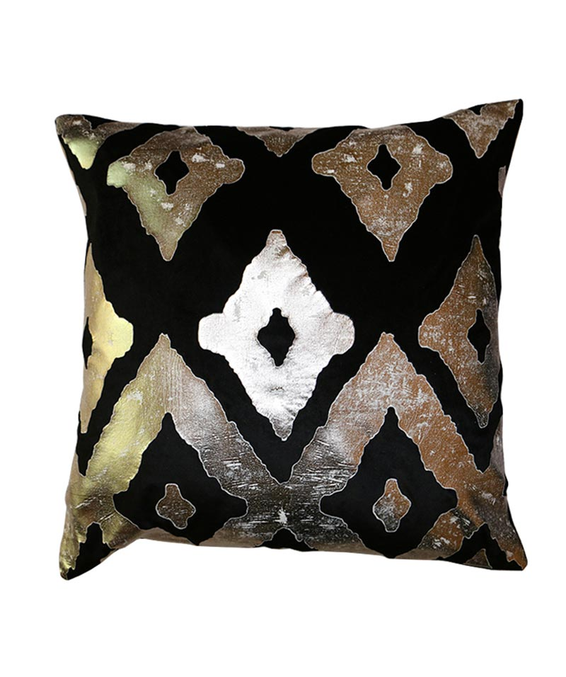 VELVET CHICAGO CUSHION BLK