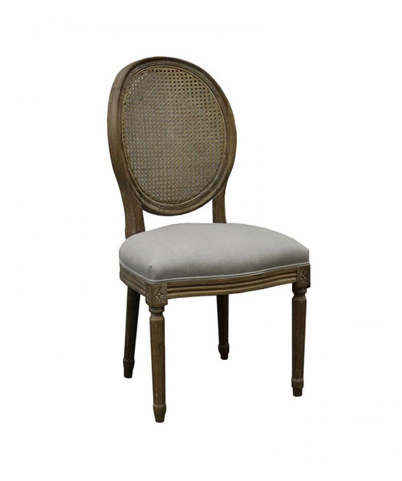 Beatrix  Chair Rattan + Linen