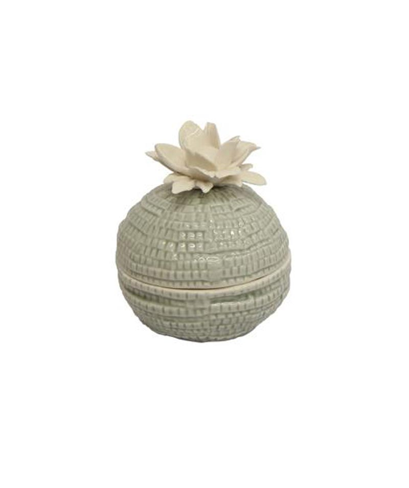 Grey Flower Trinket Box