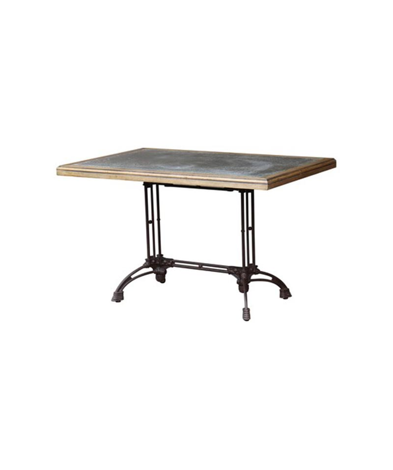 Rectangle Cafe Table With Zinc Top
