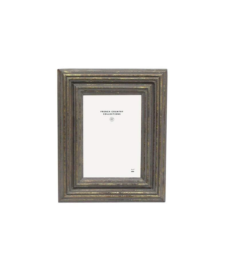 Taupe And Gold Washed Frame  5×7″