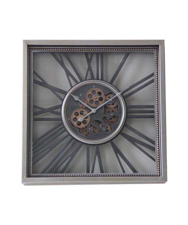 Square Roman Wall Clock With Moving Parts