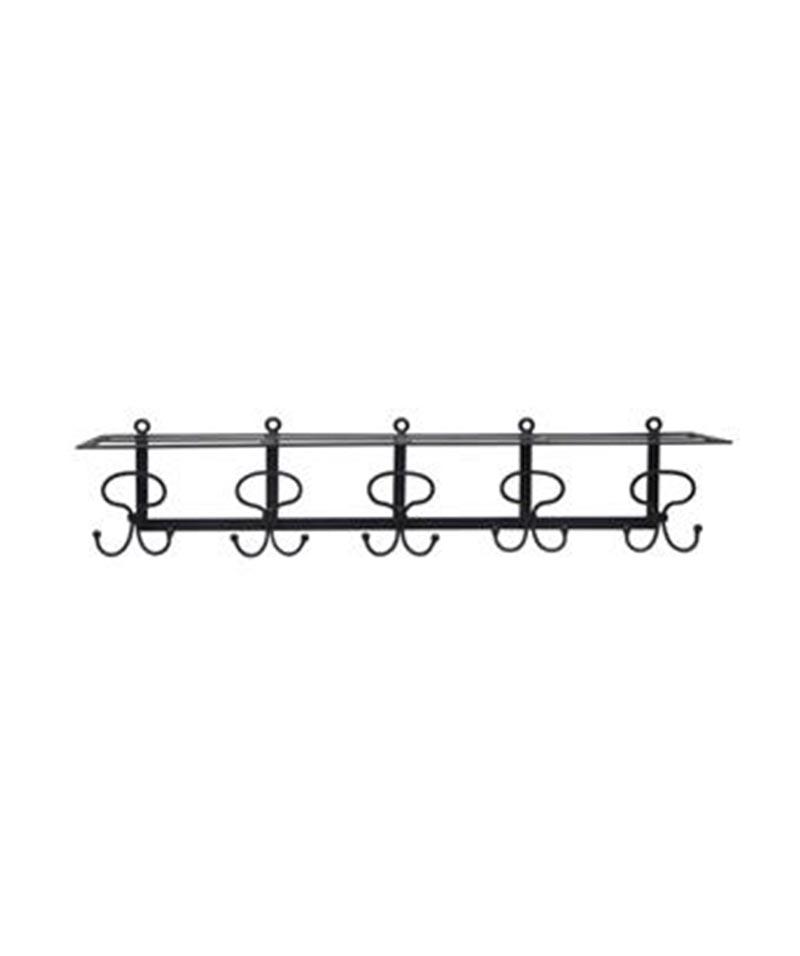 Equine Iron Shelf With 5 Hooks