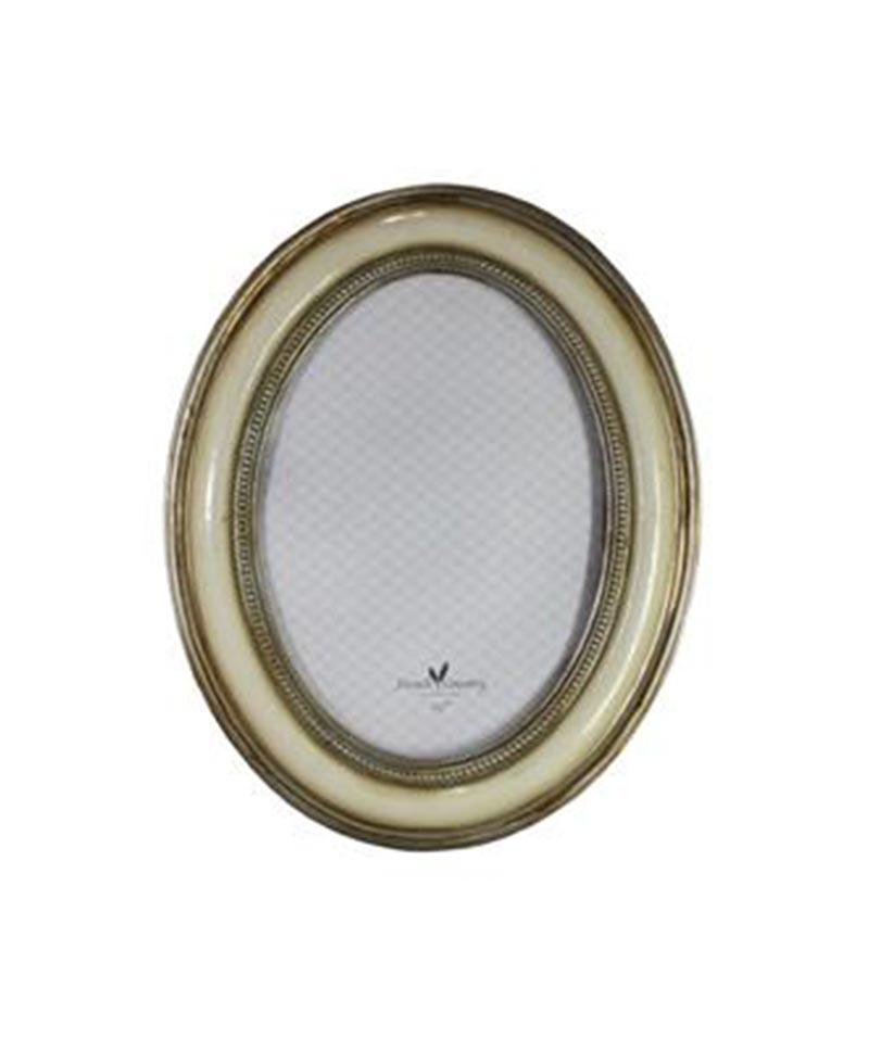 Grace Oval Frame Ivory 5×7″