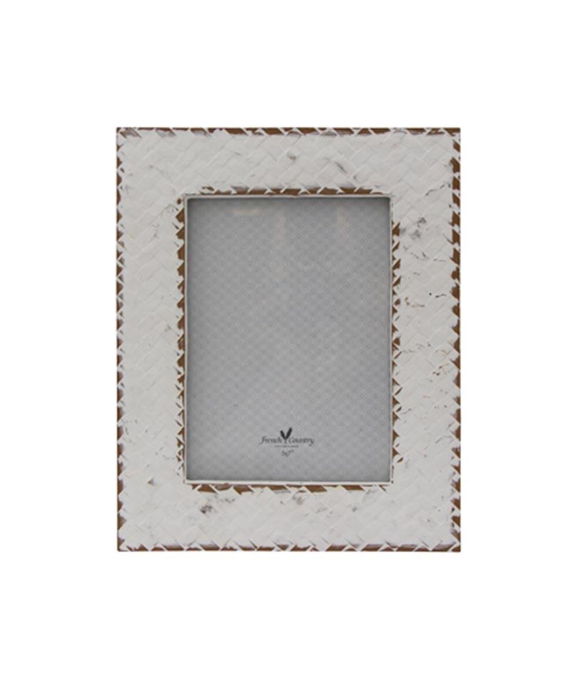 Lattice Frame Whitewash 5×7″