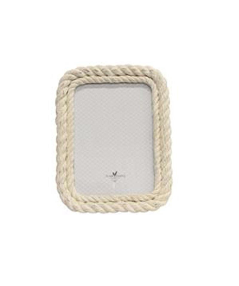 Large Rectangle White Wash Rope Frame