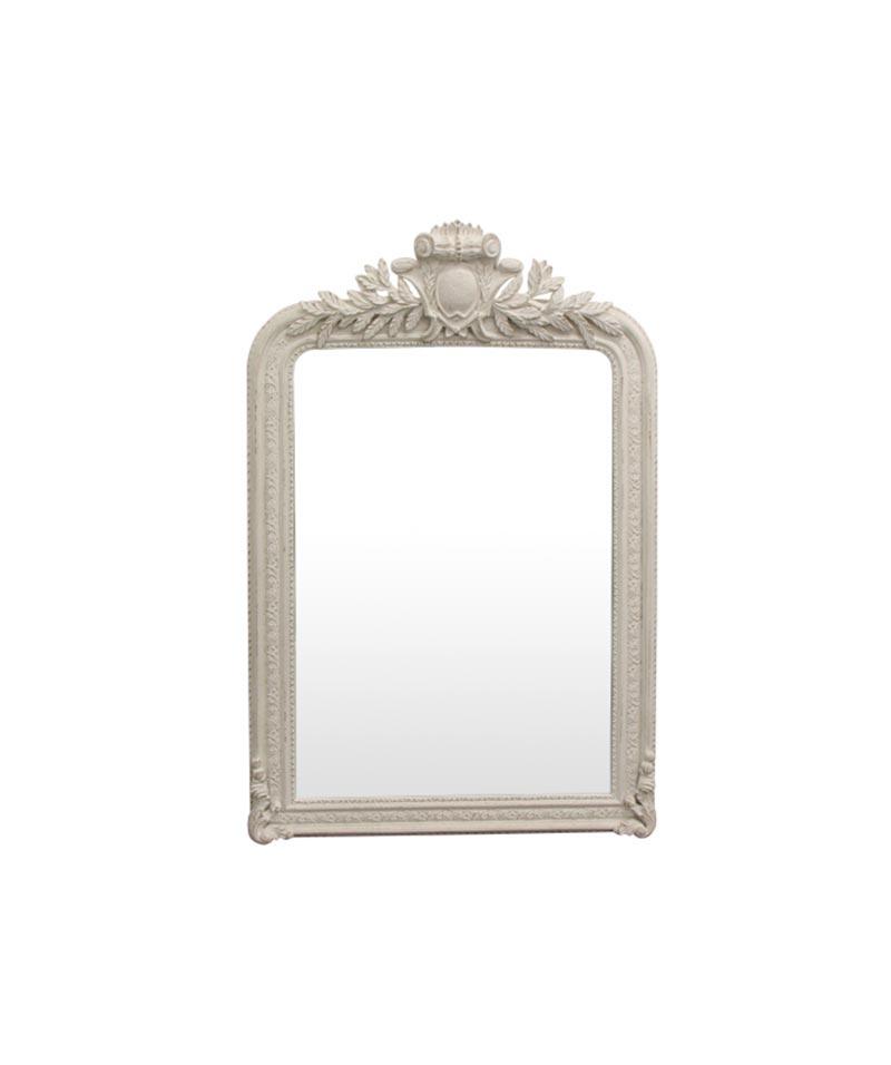 Trelise Mirror White Finish