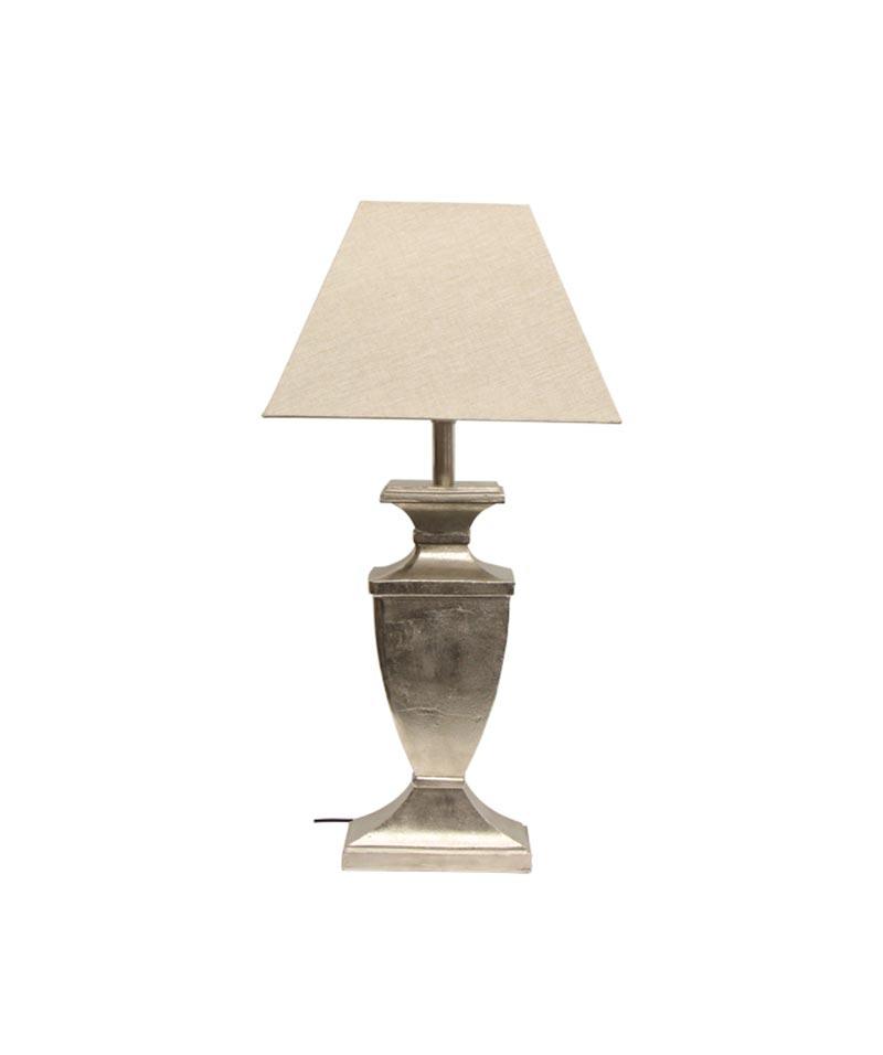 Urn Design Rough Silver Lamp Base