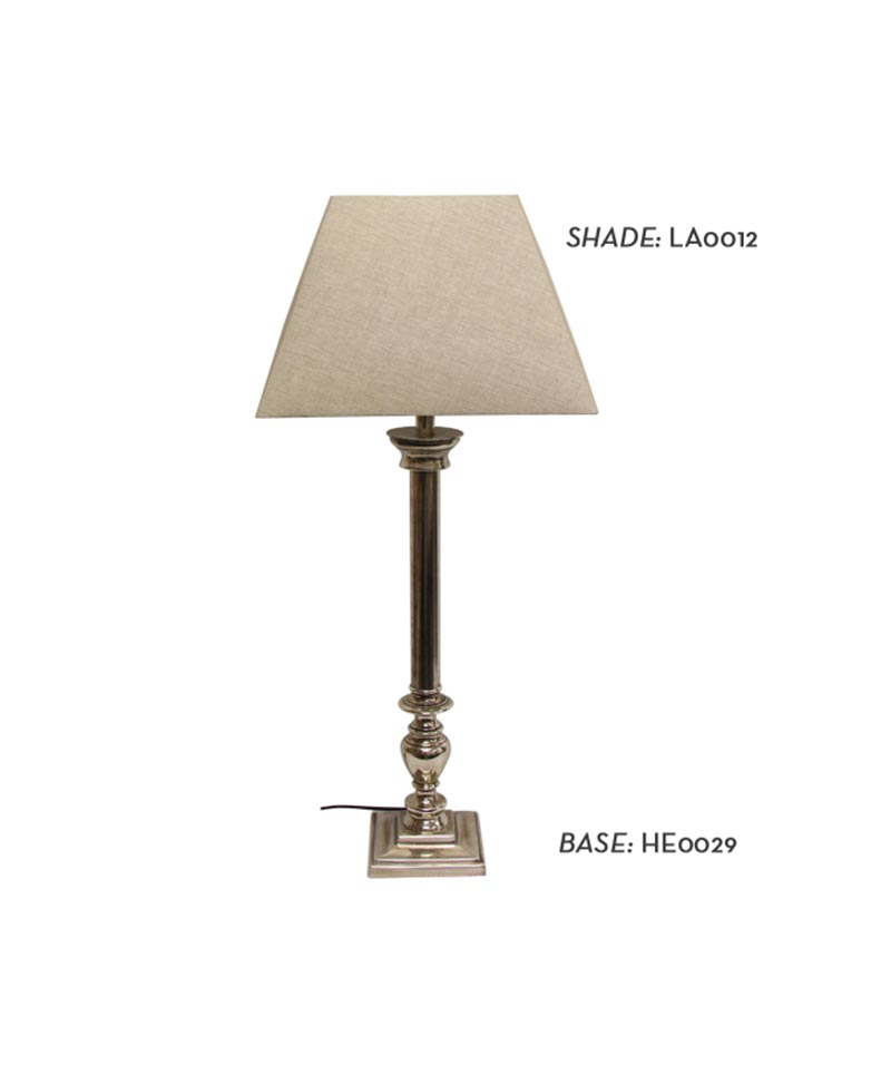 Rennes Silver Antique Lamp Base