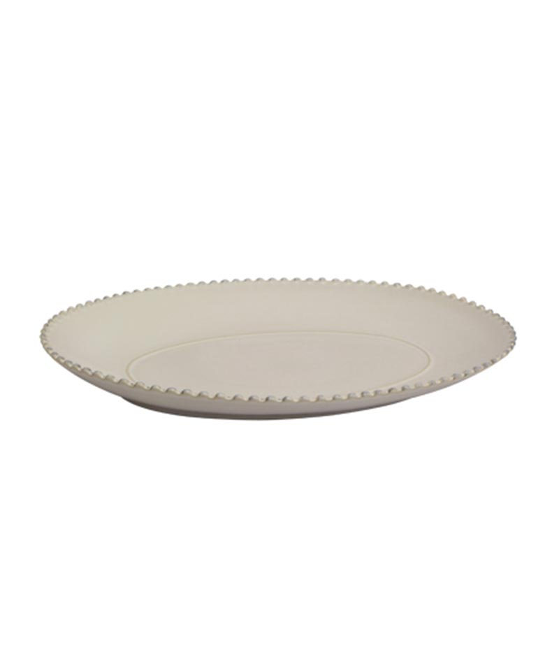 Pearl Large Oval Platter Stoneware