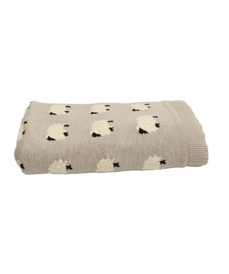 Counting Sheep Cotton Throw