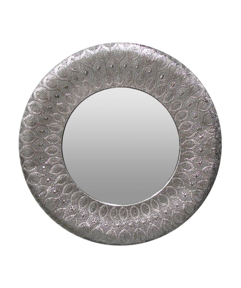 Panama Mirror Round Silver