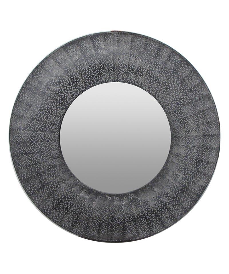Marrakesh Mirror Round Black