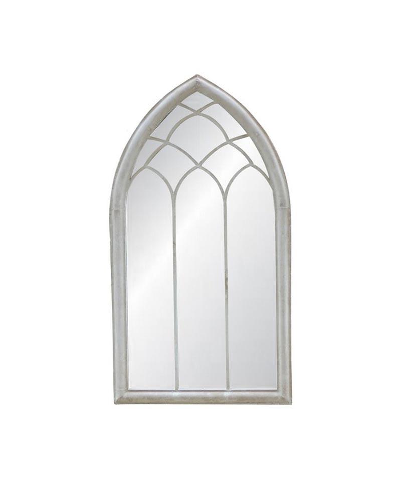 Outdoor Mirror – Antique White Finish