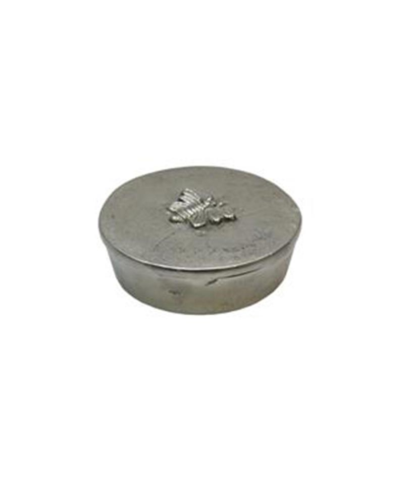 Pack 3 Round Silver Box With Bee Design