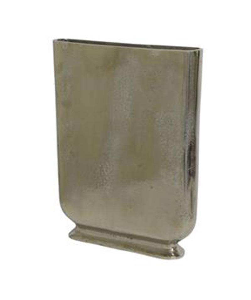 Narrow Silver Vase 41cmH