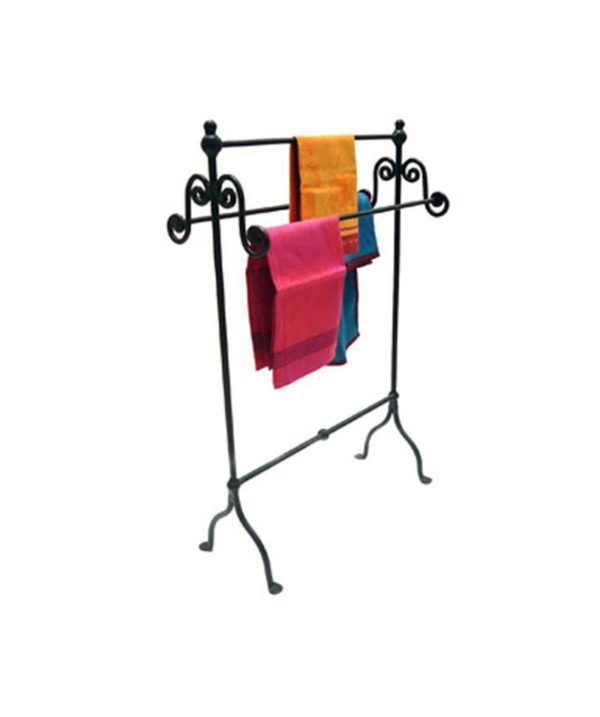 Iron Towel Rail Black