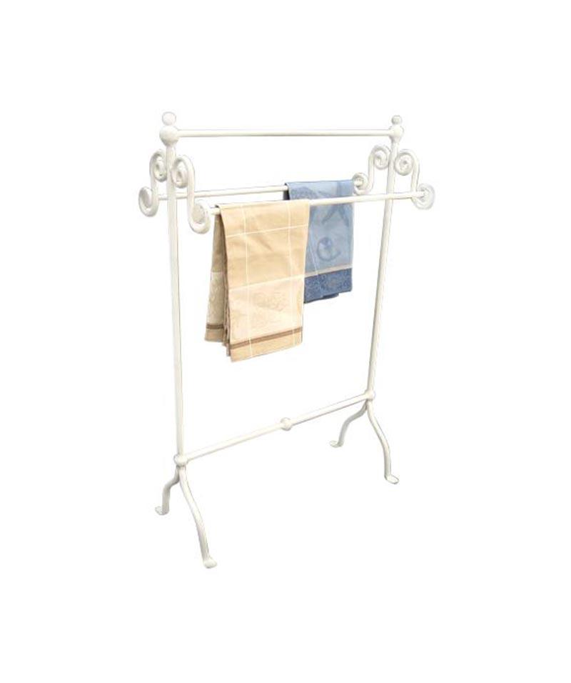 Whitewash Iron Towel Rail