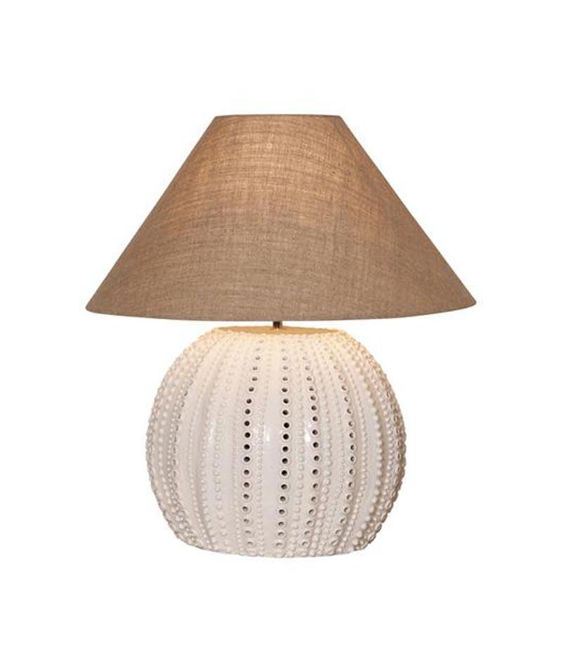 Oneworld Sea Urchin Lamp Base In White