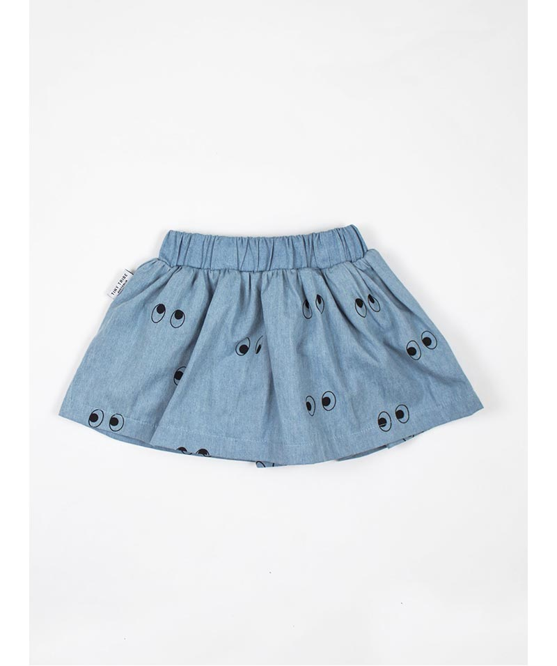 "Tiny Tribe ""Ghost Eyes"" Skirt With Nappy Pant – Chambray"