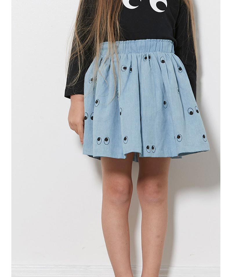 "Tiny Tribe ""Ghost Eyes"" Skirt – Chambray"