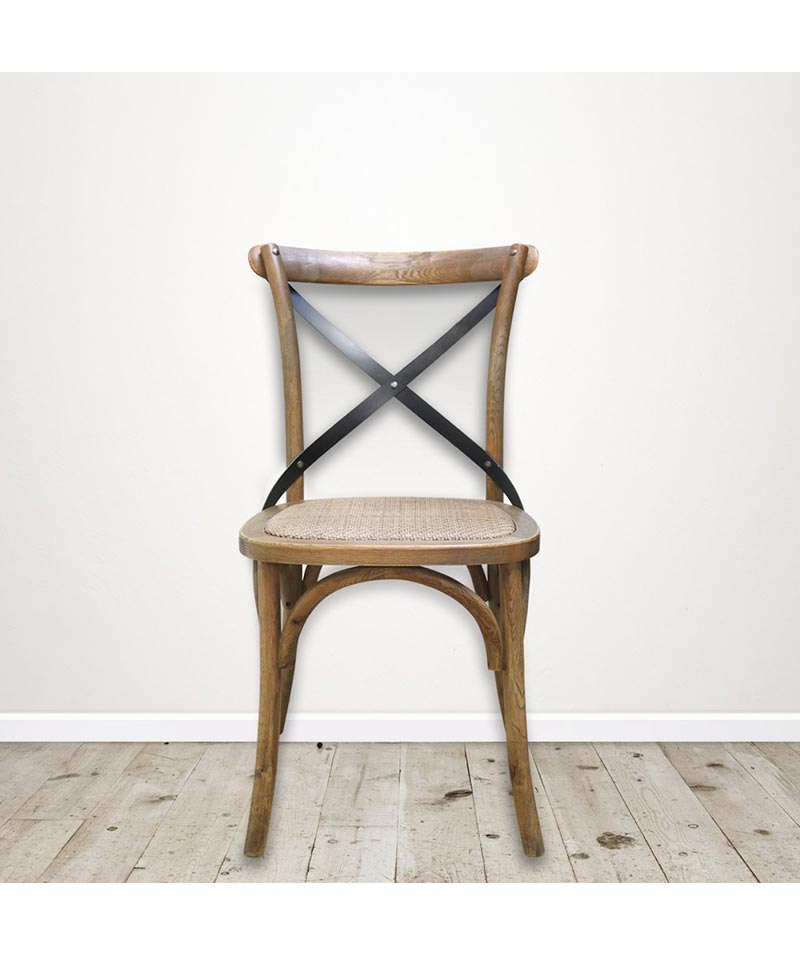 Vienna Elm Chair With Cross Back