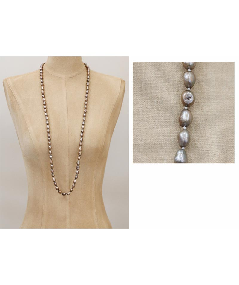 Brown Baroque Pearl Necklace