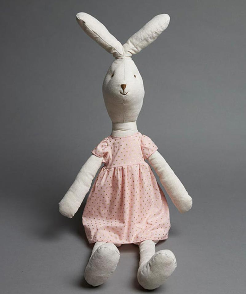 Natural Bunny In Pink Dress
