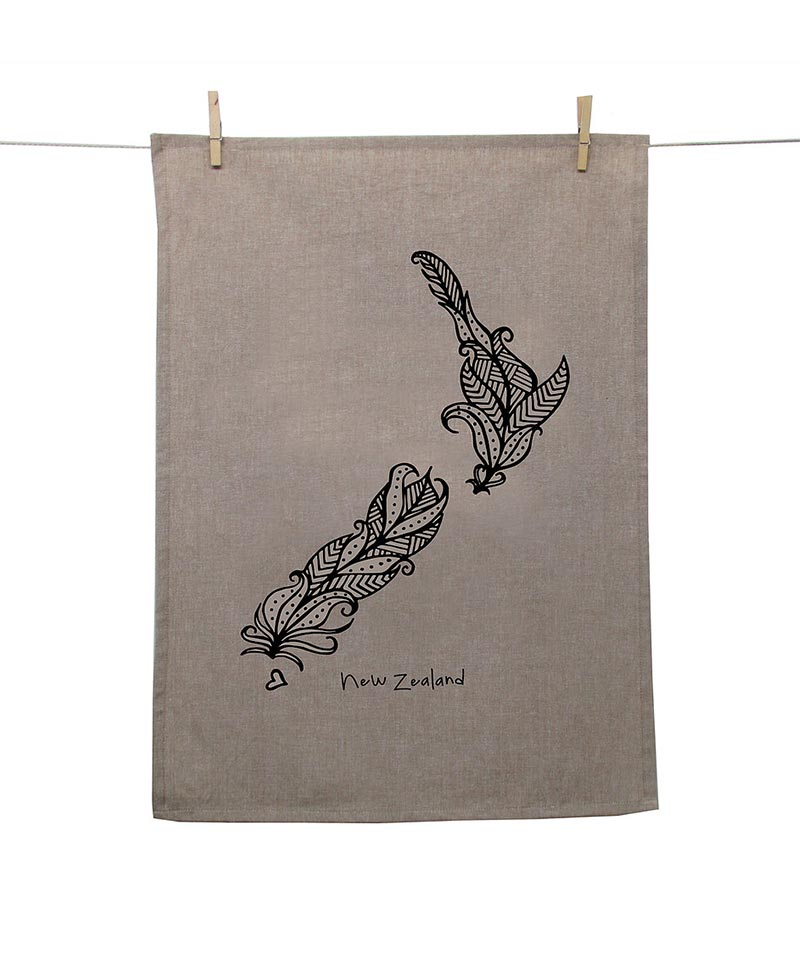 NZ Map Tea Towel