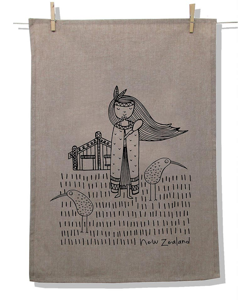 Tea Towel Natural – NZ Kiwi Girl