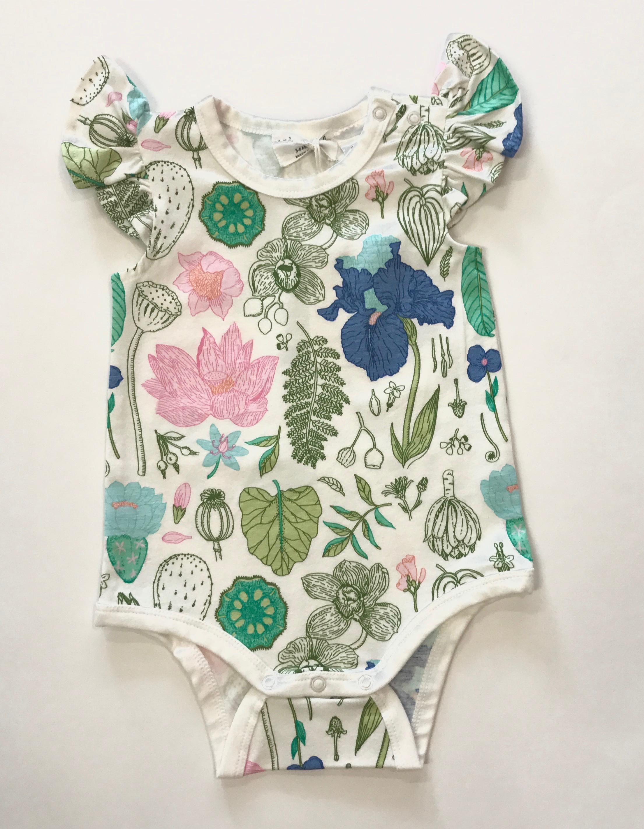 Flora Flutter Sleeve Bodysuit
