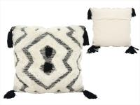 Galie Hand Woven Cushion – Black And White
