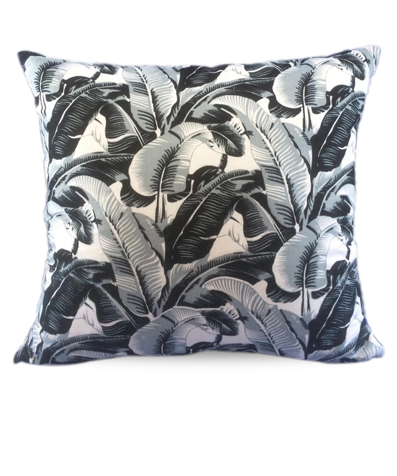 Cover Pillow Banana Leaf Black
