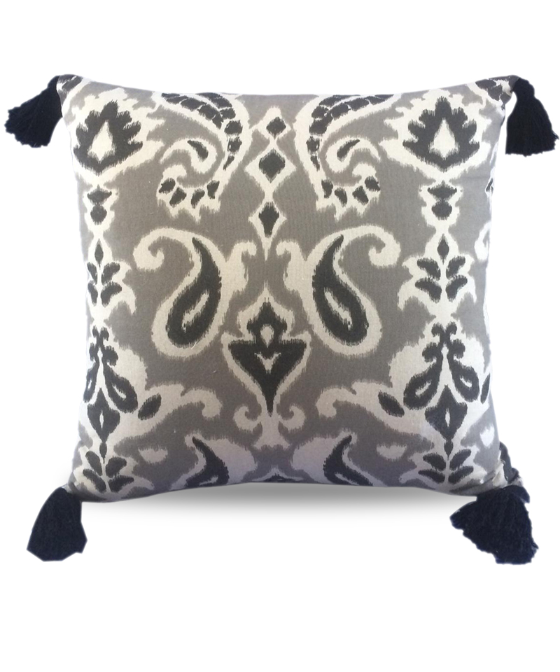 Cover Pillow Ikat Kenya Black