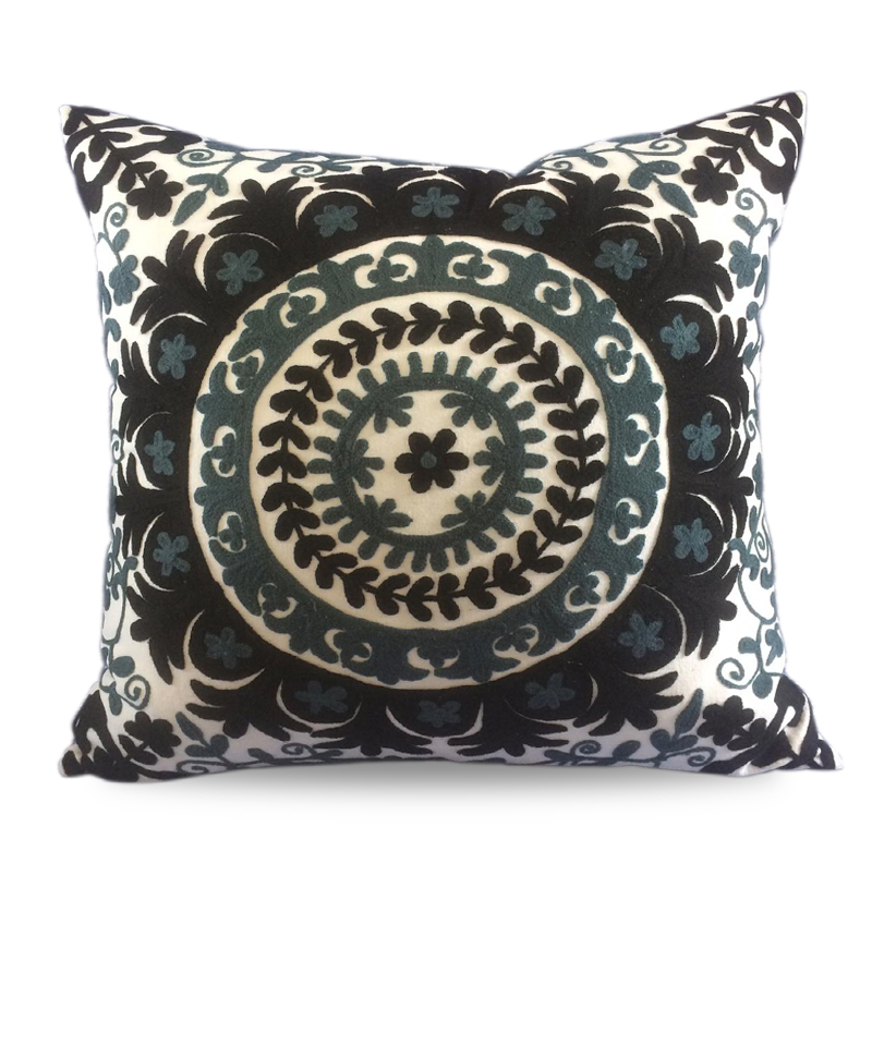 Cover Pillow Suzani Black