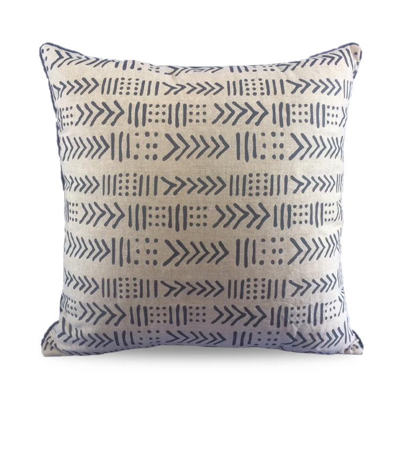 Cover Pillow Zulu Print Blue Navy