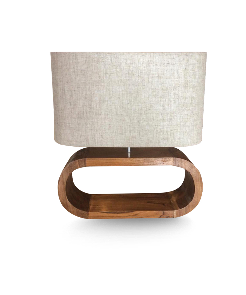 Nakas Lamp With Gunny Shade
